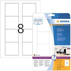 HERMA Etiketten 4355 Weiß Quadratisch 200 Etiketten pro Packung