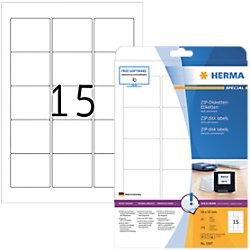 HERMA CD-DVD Etiketten 5087 Weiß Quadratisch 375 Etiketten pro Packung