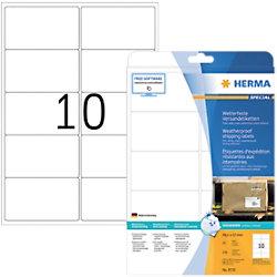 HERMA Strapazierfähige Etiketten 8330 Weiß DIN A4 99,1 x 57 mm 25 Blatt à 10 Etiketten