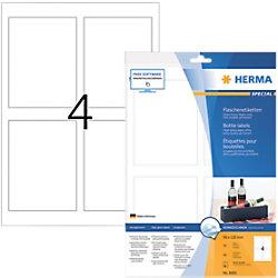 HERMA Flaschenetiketten 8882 Weiß DIN A4 90 x 120 mm 10 Blatt à 4 Etiketten