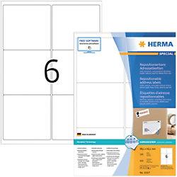 HERMA Adressetiketten 10317 Weiß Quadratisch 600 Etiketten pro Packung