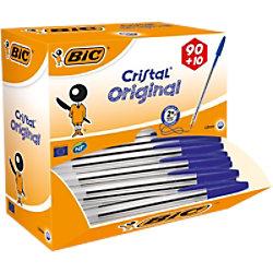 BIC Kugelschreiber Cristal 0.4 mm Blau 100 Stück 896039