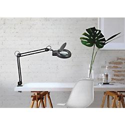 Maul Schreibtischlampe mit Lupe Schwarz