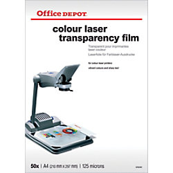 Office Depot Overhead-Folien DIN A4 Transparent 50 Blatt 5752341