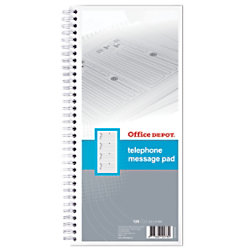 Office Depot Telefon Notizbuch Weiß Spezial 57 g/m² Liniert 40 Blatt 40 Blatt 6030504