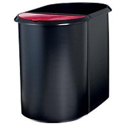 helit Papierkorb Duo System Kunststoff Schwarz, Rot 28 x 28 x 35 cm H6103992