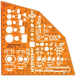 Rumold Schablone Metallwinkel Orange 15.5 cm Kunststoff 2916