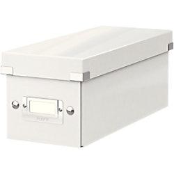 Leitz Click & Store WOW CD Aufbewahrungsbox Laminierte Hartpappe Weiß 14,3 x 35,2 x 13,6 cm 6041-00-01