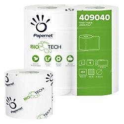 Papernet Toilettenpapier Bio Tech 409040 2-lagig 4 Rollen à 250 Blatt