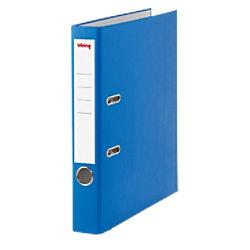 Viking Ordner 50 mm Glatt PP Cover, Papier innen Etikettensticker 36 x 190 mm 2 Ringe A4 Blau 3547971
