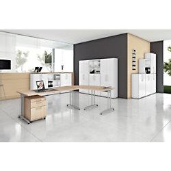 Hammerbacher Schreibtisch VBS08/3 Ahorn 800 x 800 x 720 mm