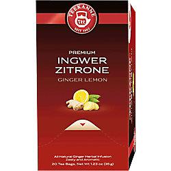 TEEKANNE Ingwer, Zitrone Tee 20 Stück à 1.75 g 44048