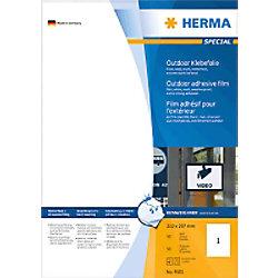 HERMA Wetterfeste Etiketten 9501 Mattes Weiß Rechteckig 50 Etiketten pro Packung
