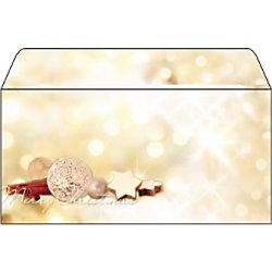 Sigel Weihnachtsbriefumschläge Zimtstern DL 90 g/m² Farbig sortiert 25 Stück DU221