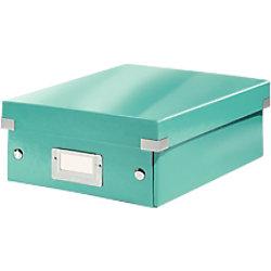 Leitz Click & Store WOW Klein Organisationsbox Laminierte Hartpappe Eisblau 22 x 28,2 x 10 cm 60570051