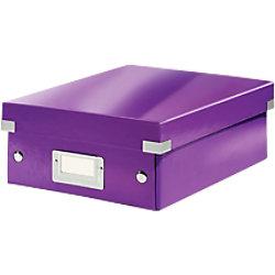 Leitz Click & Store WOW Klein Organisationsbox Laminierte Hartpappe Lila 22 x 28,2 x 10 cm 60570062