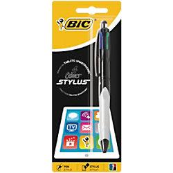 BIC Kugelschreiber 4 Colours Stylus Grip Blau, Schwarz, Rot und Grün 926403