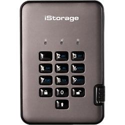 iStorage 1 TB Tragbare Verschlüsselte Festplatte diskAshur PRO2 USB 3.0 Schwarz, Graphit IS-DAP2-256-1000-C-G