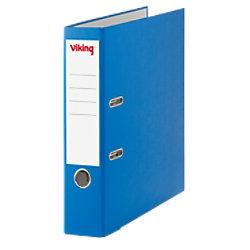 Viking Ordner 75 mm Glatt PP Cover, Papier innen Etikettensticker 58 x 190 mm 2 Ringe A4 Blau 3346605