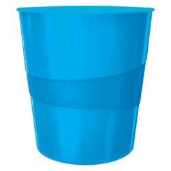 Leitz WOW Papierkorb 15 Liter Blau 29 x 29 x 32,4 cm 52781036