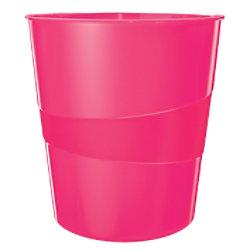 Leitz WOW Papierkorb 15 Liter Pink 29 x 29 x 32,4 cm 52781023