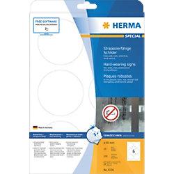 HERMA 8336 Strapazierfähige Etiketten DIN A4 Weiß 85 x 85 mm 25 Blatt à 6 Etiketten