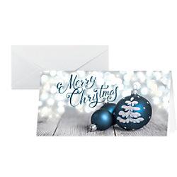 Sigel Weihnachtskarte Herrliche Weihnachten DL 220 g/m² Weiß, Blau 25 Stück DS058