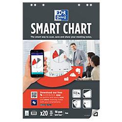 OXFORD Flipchart-Papier Smart Chart Euro 90 g/m² Blanko 65 x 98 cm 3 Stück à 20 Blatt 400096277