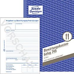AVERY Zweckform Bewirtungskostenbeleg 745 Weiß DIN A5 Perforiert 50 Blatt