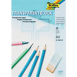 Folia Transparentpapier DIN A3 80 g/m² 297 x 420 mm Transparent 25 Blatt 8050/25