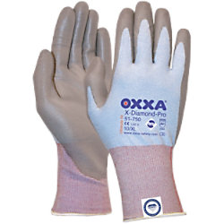 Oxxa Handschuhe X-Diamond-Pro Cut 3 Polyurethan Größe XXL Grau 2 Stück 15175011