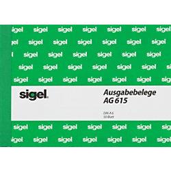 Sigel Ausgabebeleg AG615 DIN A6 quer 25 Blatt