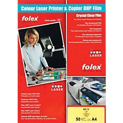 Folex Overhead-Folien BG72 DIN A4 Transparent 50 Blatt 2.972.012.544.100