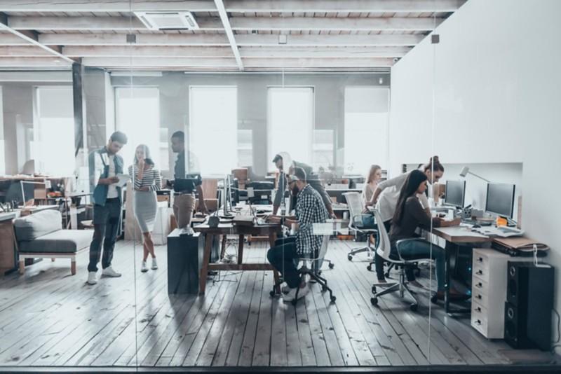 Rollcontainer für eine flexible Büromöblierung