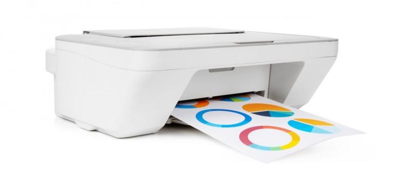 farbiger Ausdruck mit einem Farbdrucker