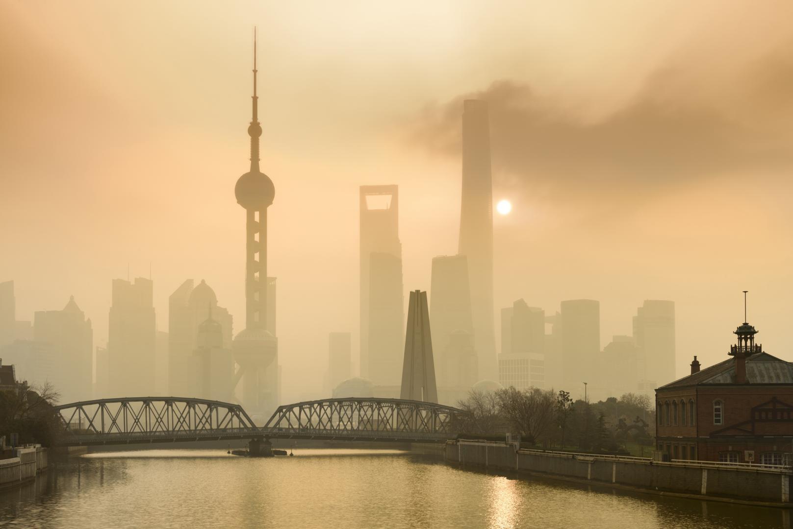 Smog über der Stadt