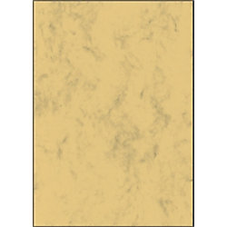 Sigel Designpapier DP262 DIN A4 90 g/m² Sandbraun marmoriert 100 Blatt