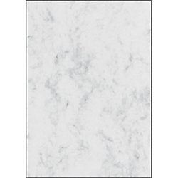 Sigel Designpapiere A4 200 g/m2 Marmoriert Grau DP396 50 Blatt