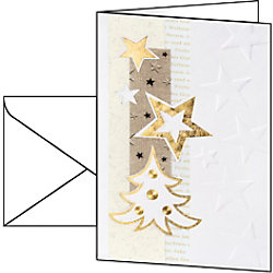 Sigel Weihnachtskarten Weiße Weihnacht A6 185 g/m² Weiß 10 Stück DS376