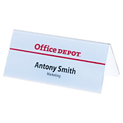 Durable Schreibtisch Namensschild transparent 150 x 61 mm Packung 25 Stück 805019