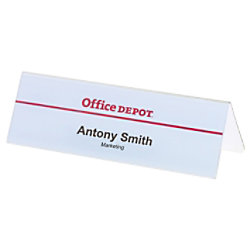 Durable Schreibtisch Namensschild transparent 61 x 210mm Packung 25 Stück 805219
