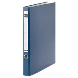Leitz Ringbuch 2 Ringe Graupappe, laminiertes Papier DIN A4 Blau 10140035