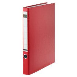 Leitz Ringbuch 2 Ringe Graupappe, laminiertes Papier DIN A4 Rot 10140025