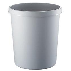 helit Papierkorb Polyethylen Hellgrau 33,5 cm H6105882