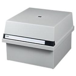 HAN Tischkarteikasten DIN A4 1300 Karten Lichtgrau 33 x 36,5 x 24,2 cm 954-11