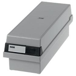HAN Tischkarteikasten DIN A7/BF 1300 Karten Lichtgrau 13,3 x 36 x 12,1 cm 957-11