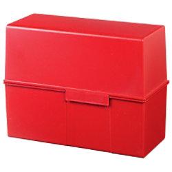 HAN Karteikartenbox DIN A5 450 Karten Rot 22,8 x 10,2 x 17,1 cm 975-17