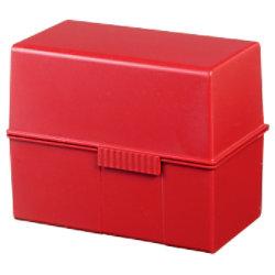 HAN Karteikartenbox DIN A6 400 Karten Rot 16,5 x 9,6 x 12,8 cm 976-17