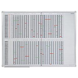 Franken Jahresplaner bis 35 Positionen Weiß, Silber 120 x 90 cm SJPC1235