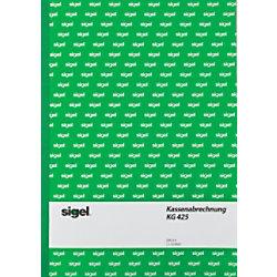 Sigel Kassenabrechnung DIN A4 50 Blatt KG425